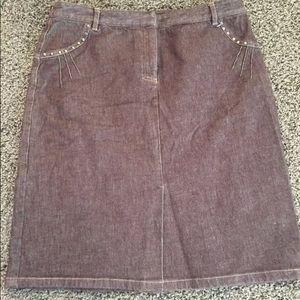 Kenneth Cole New York Denim Jean Skirt Size 8